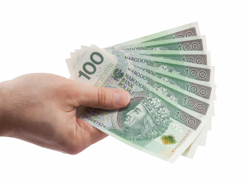 Polskie pieniądze wręce